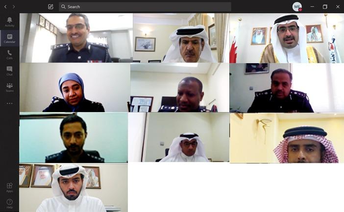 محافظ المحافظة الجنوبية يجتمع بالعميد فواز الحسن آمر الأكاديمية الملكية للشرطة